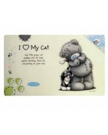 """Dog Line Sottociotola per gatti con stampa """"I LOVE MY CAT"""""""