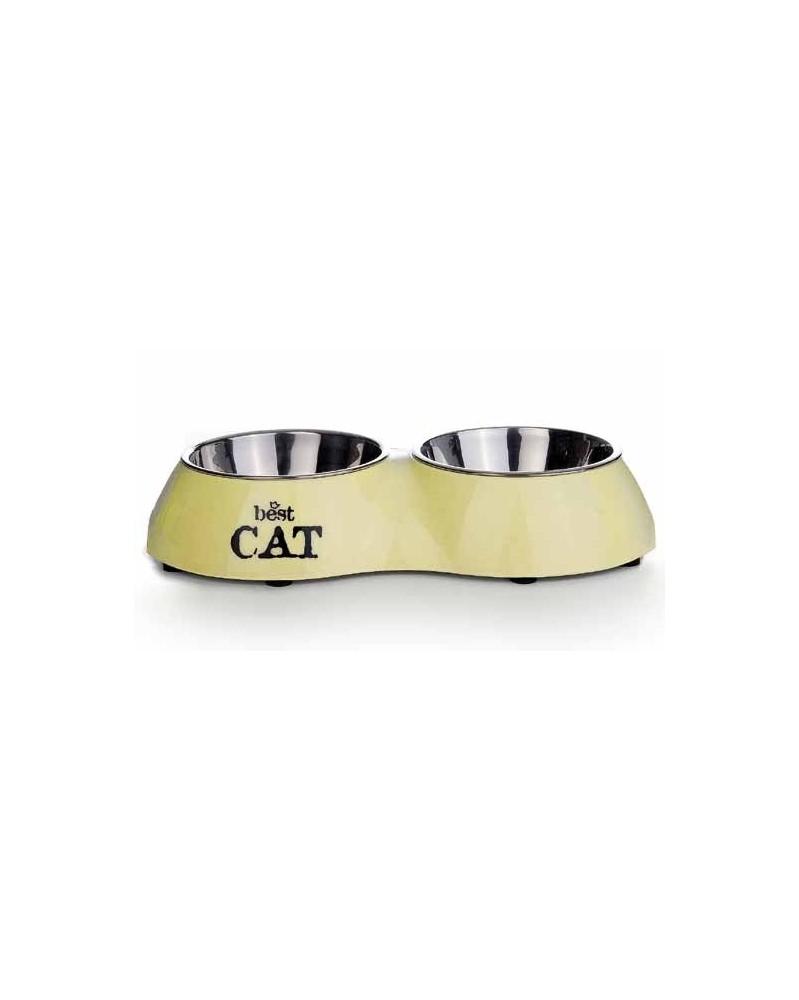 DOG LINE Ciotola doppia per gatto
