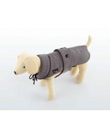 DOG LINE  Cappottino per cani in elegante tessuto pied de poule e interno in pile