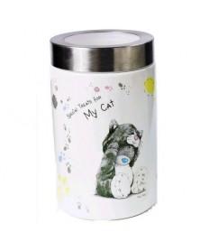 DOG LINE Contenitore per snack gatto in ceramica