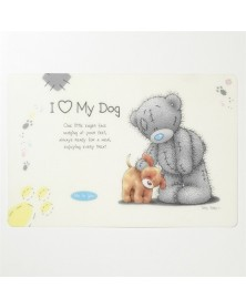 "DOG LINE Sottociotola per cani con "" I love my dog"""
